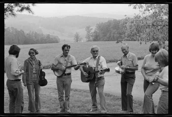 Virginia bluegrass jam session