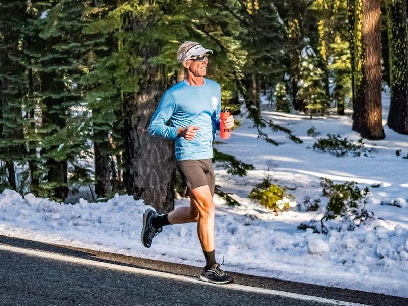 Will Turner running in Glacier National Park