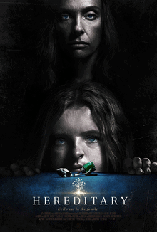 'Hereditary' promotional movie poster, the scariest horror film on this list