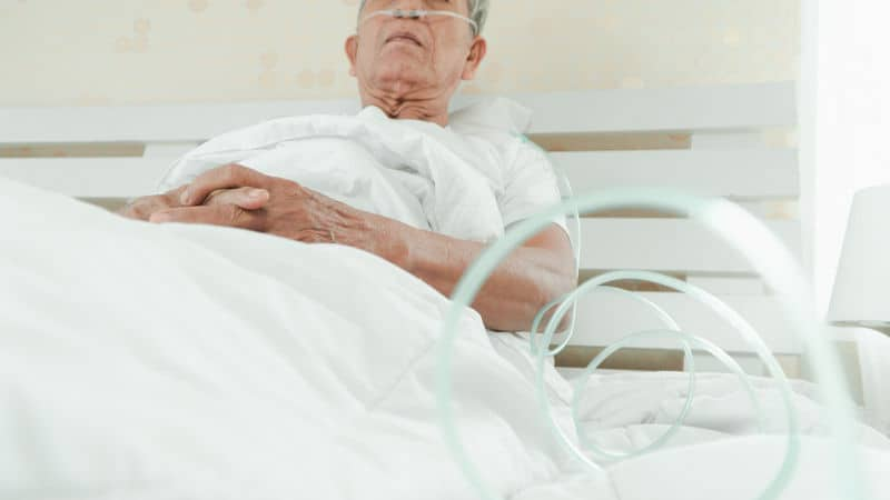 Grandmother in hospice care Image