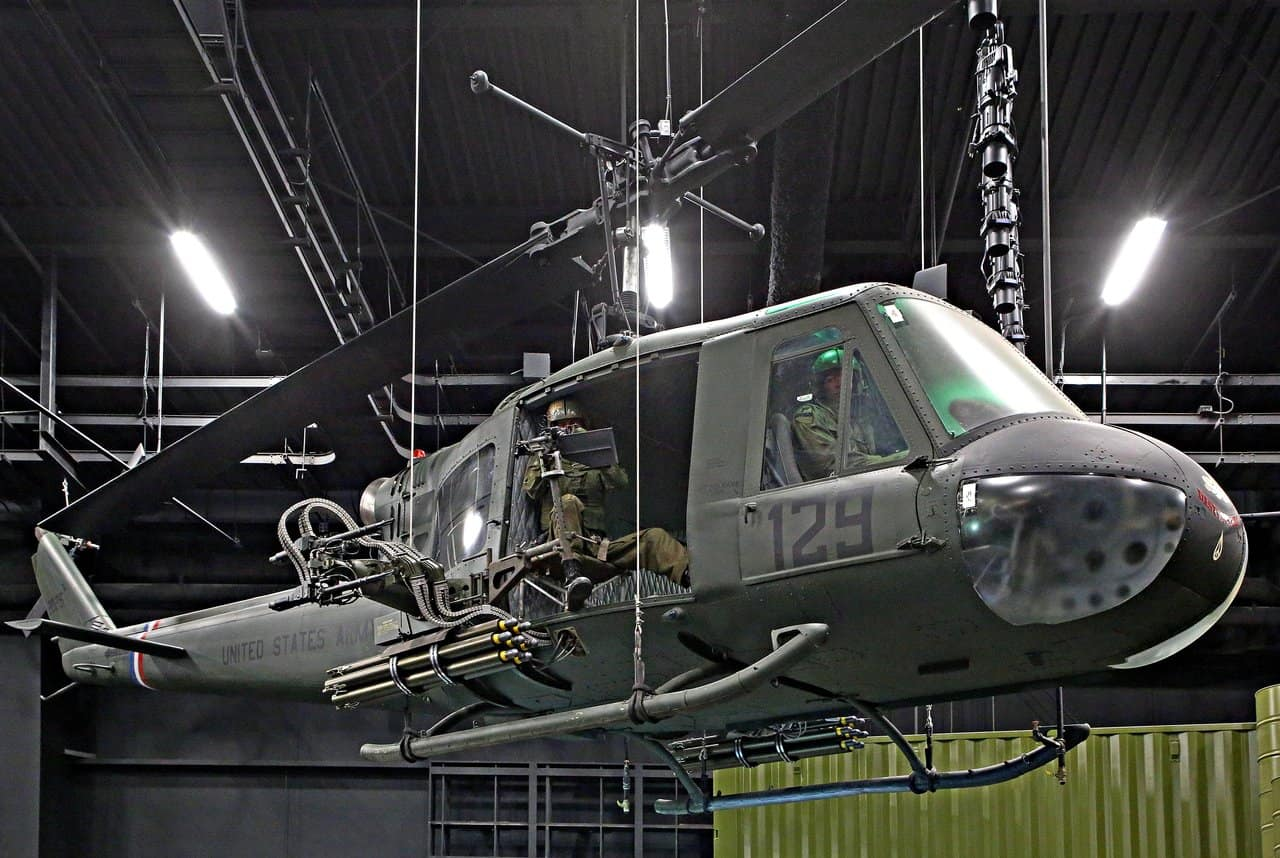 Huey helicopter of the Vietnam War