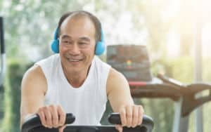 Asian man's exercise regimen for aging, aekkarak Thongjiew Image