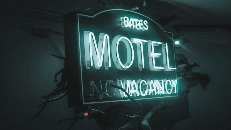 Bates Motel sign, as featured in heart-racing horror film 'Psycho' Image