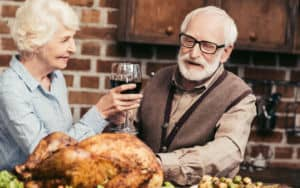 Thanksgiving couple celebrating alone Image
