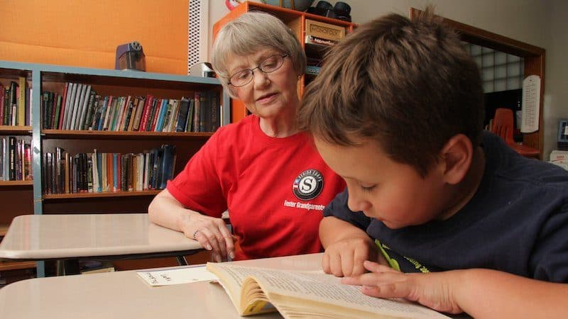 AmeriCorps Seniors volunteers foster grandparent Image
