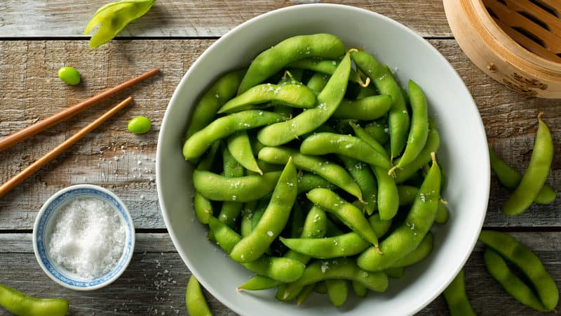 Edamame is one of the best foods for sleep Image
