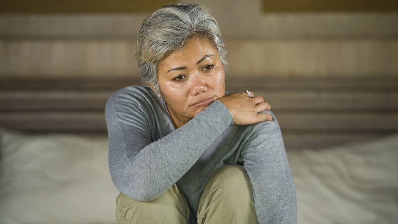 Woman devastated after breaking up Image