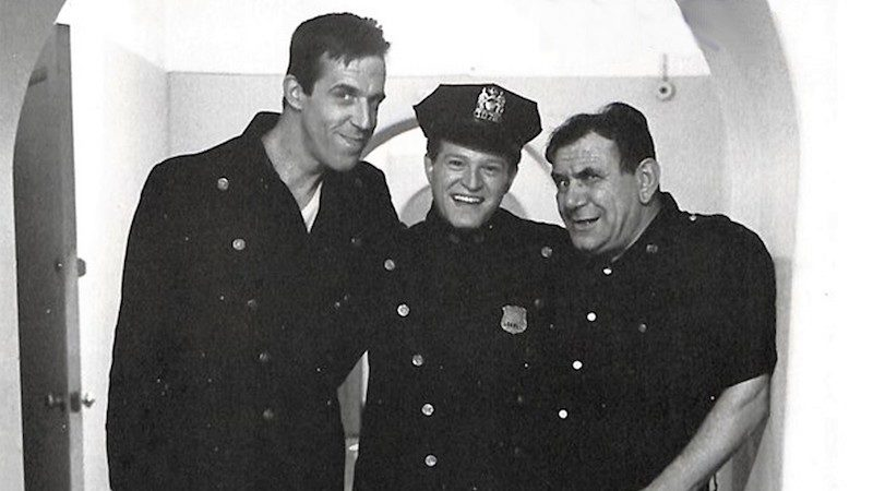 Hank Garrett of 'Car 54' TV show with Fred Gwynne and Joe E. Ross Image