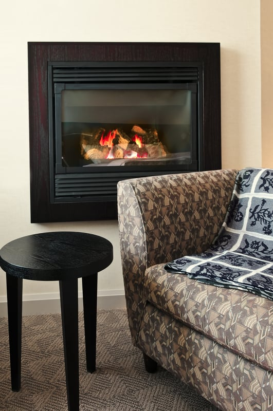 Accessorize with blankets, throw rugs and even a gas fireplace