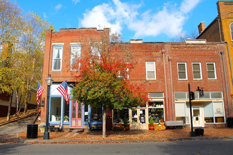 Jonesborough in northeast Tennessee