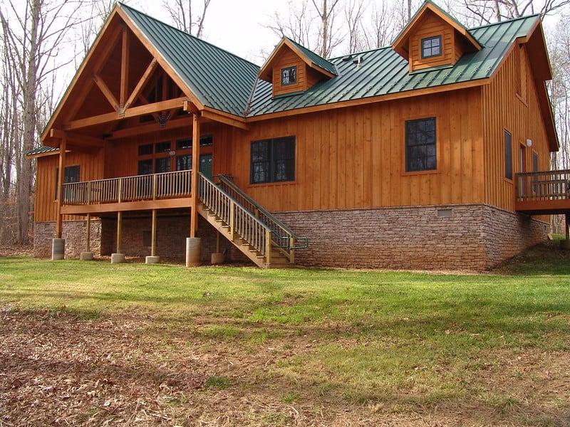 Bear Creek Lake cabin exterior