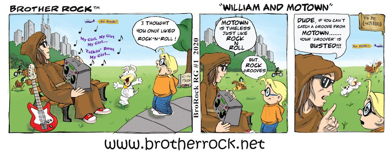 Brother Rock musical comic: Motown