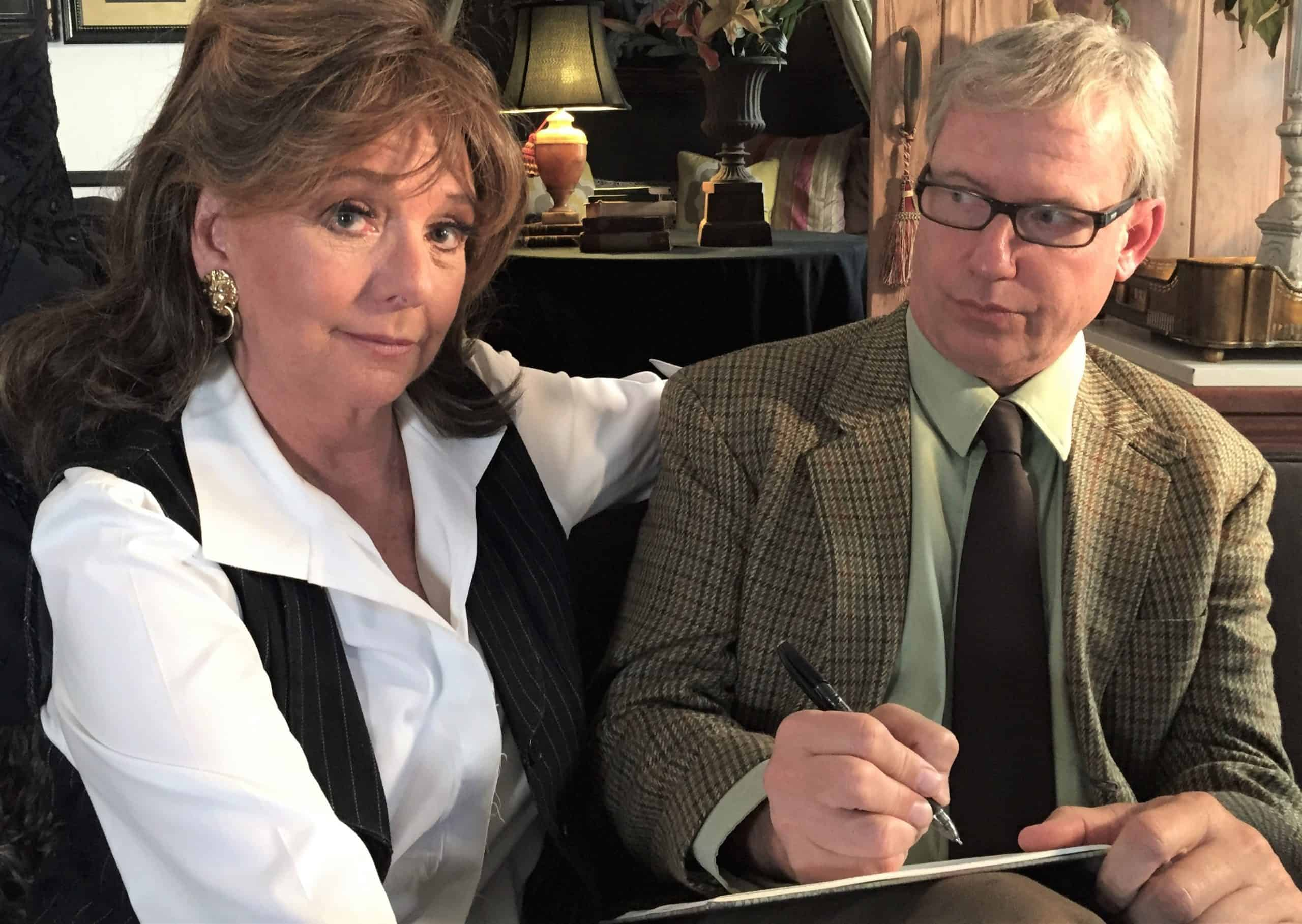 Dawn Wells, as a patient, and Terry Ray, as the therapist, in Ray's TV Therapy series - provided by Terry Ray