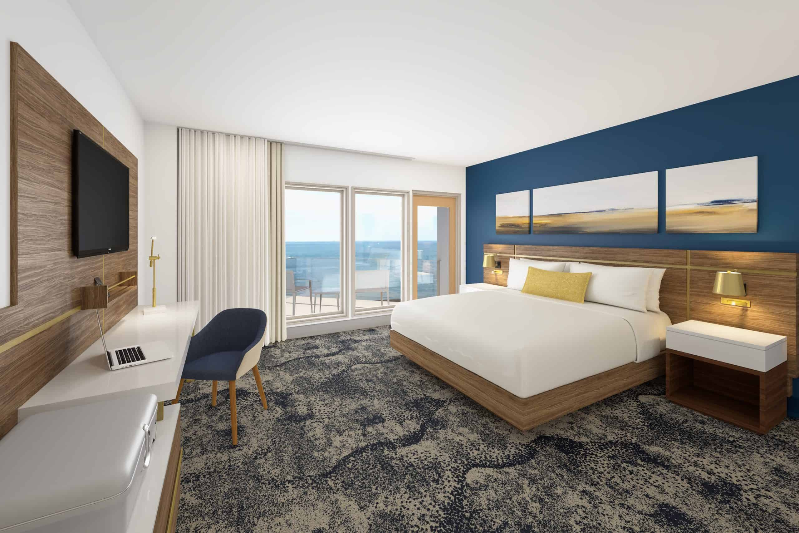 Delta VA Beach Private Spaces King Guestroom provide a place to enjoy the tranquil beaches of the Chesapeake Bay at Virginia Beach