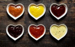 Love letters in the form of barbecue sauce Image