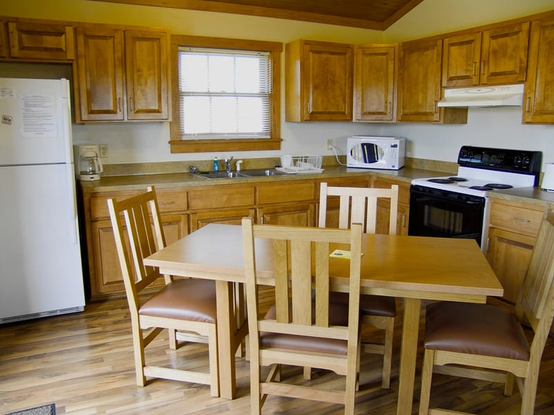 James River State Park cabin kitchen