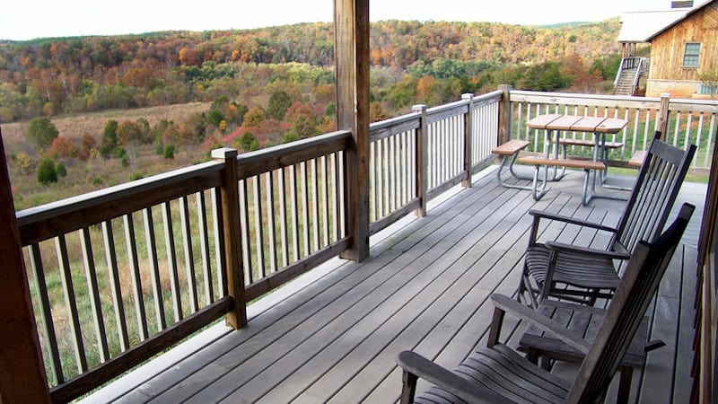 James River State Park cabin view