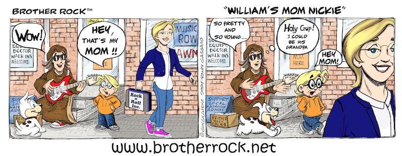 Brother Rock comic William's mom, Nice