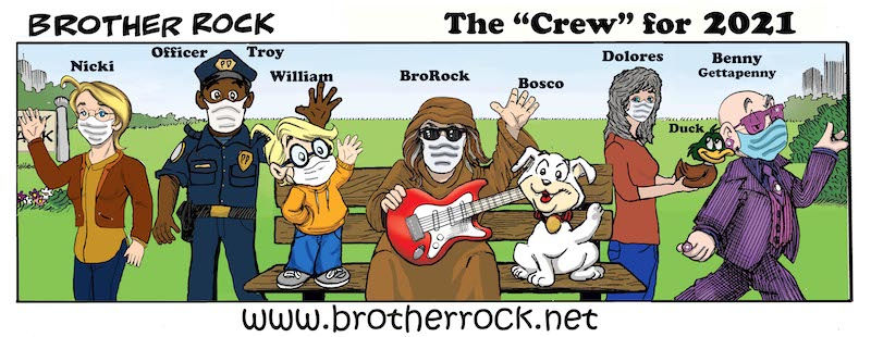 Brother Rock comic The Crew