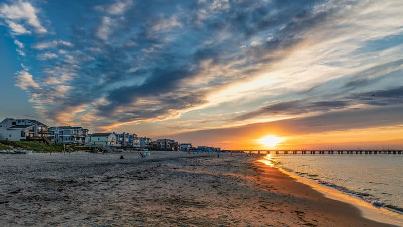 Tranquil beaches on the Chesapeake Bay at Virginia Beach Image