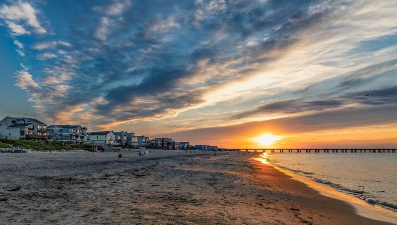 Tranquil beaches on the Chesapeake Bay at Virginia Beach