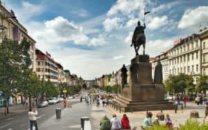 Wenceslas Square, Prague, Czechoslovakia. Rick Steves' Czech Out Prague Image