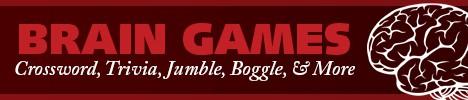 Boomer Brain Games ad - jumble, boggle, puzzles, trivia