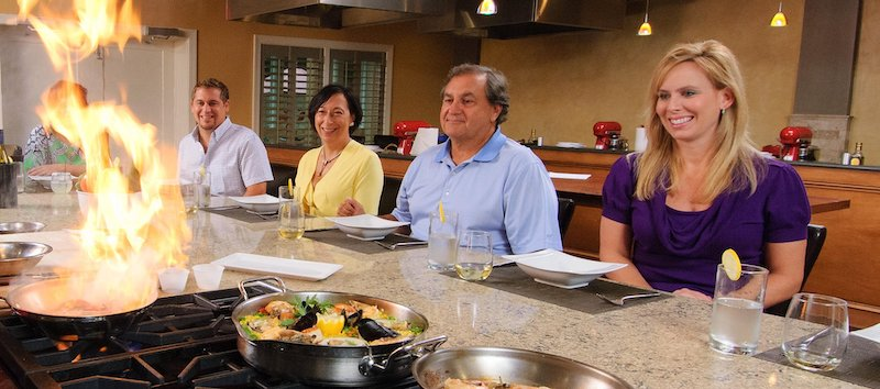 Guests of Hilton Head Health at a cooking demonstration