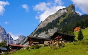View of the Swiss alps: Beautiful Gimmelwald village. (Dreamstime/TNS) Image