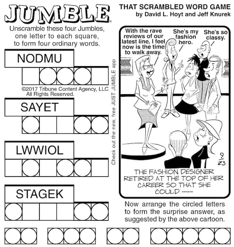 Jumble Puzzle: Fashion Designer