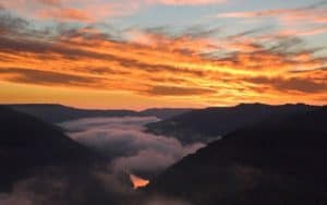 New River Gorge sunset Image