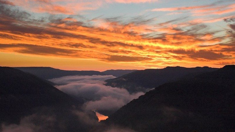 New River Gorge sunset Image
