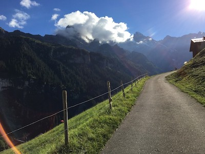 Phenomenal view of the Alps range from Gimmelwald, Switzerland, this Swiss Alps hidden gem