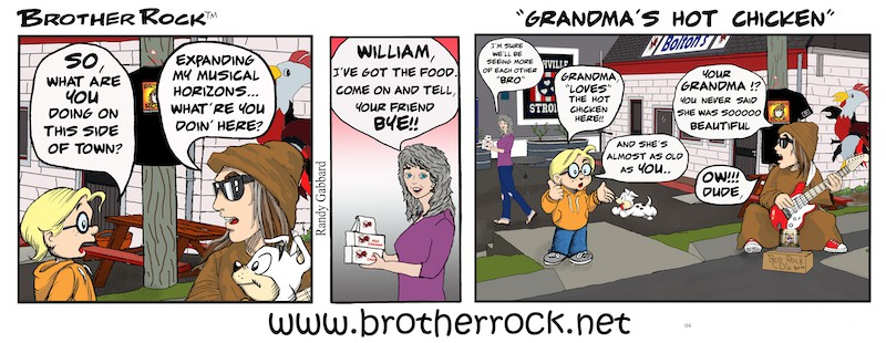 Brother Rock comic Grandma's hot chicken