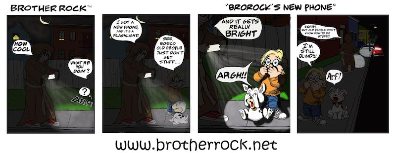 Brother Rock Cartoon: new phone