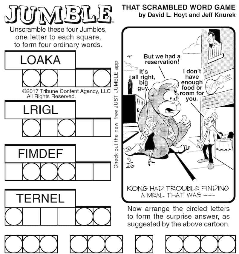 Boomer Brain Game Jumble: Kong