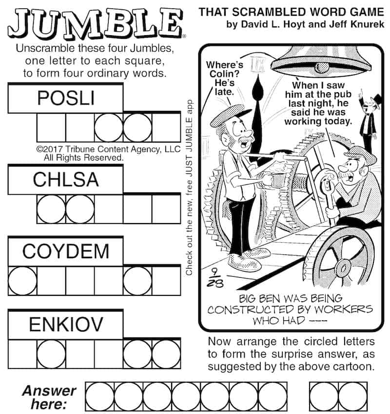 Build your brain with Jumble puzzles
