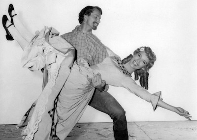 Matt Mattox and Ruta Lee in a still from Seven Brides for Seven Brothers, highlighting the new book from actress Ruta Lee