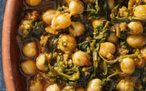Espinacas con garbanzos (spinach with chickpeas) Image
