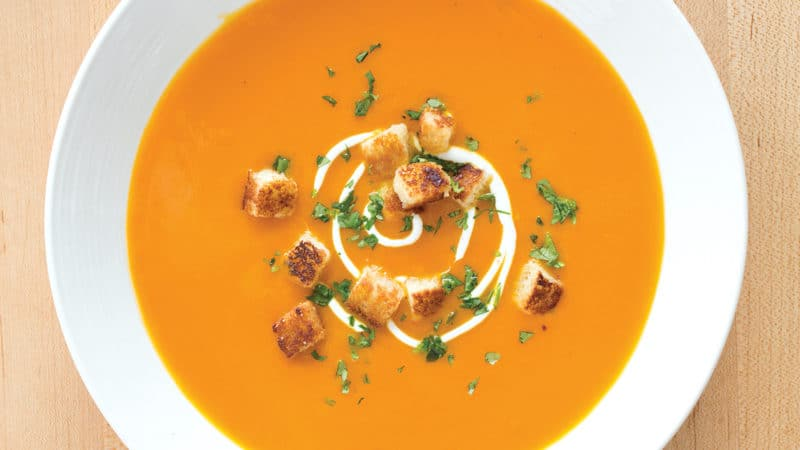 Gingery carrot soup Image
