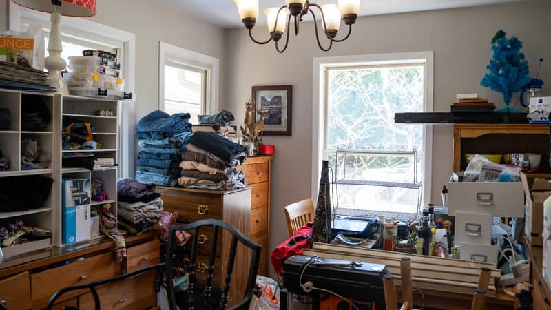 Room cluttered due to hoarding Image