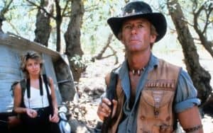 Paul Hogan in the original Crocodile Dundee movie, with co-star Linda Kozlowski Image