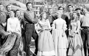Ruta Lee at far right front with the cast of Seven Brides for Seven Brothers - MGM Image