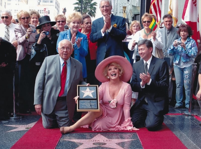 Ruta Lee receives her star on the Hollywood Walk of Fame in 2006 - for article highlighting Lee's book, 'Consider Your Ass Kissed'