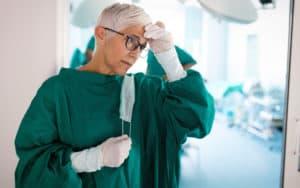 Senior doctor facing age discrimination Image