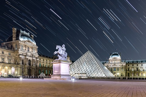 Star Trail at The Louvre Mathias Pfauwadel Dreamstime