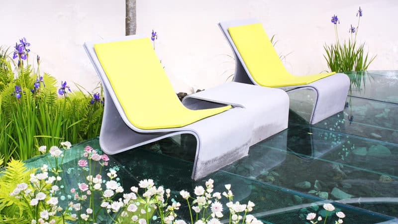 relaxing outdoor garden seating for creating a stylish outdoor space Image