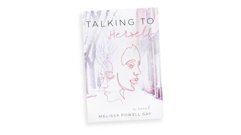 Talking to Herself as speculative fiction - book cover image Image