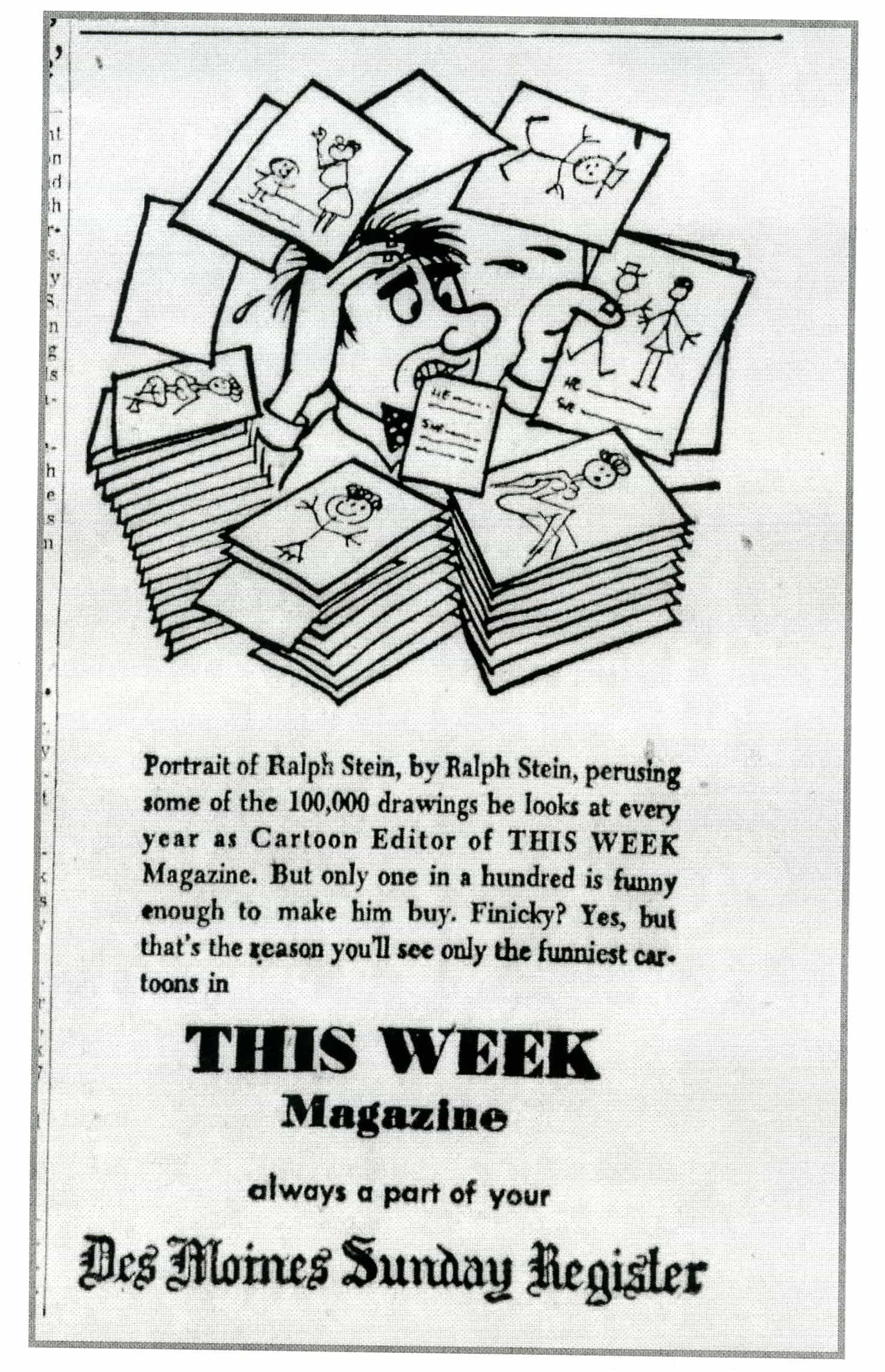 About Ralph Stein ad. July 25, 1953. In the history of Popeye the Sailor Man