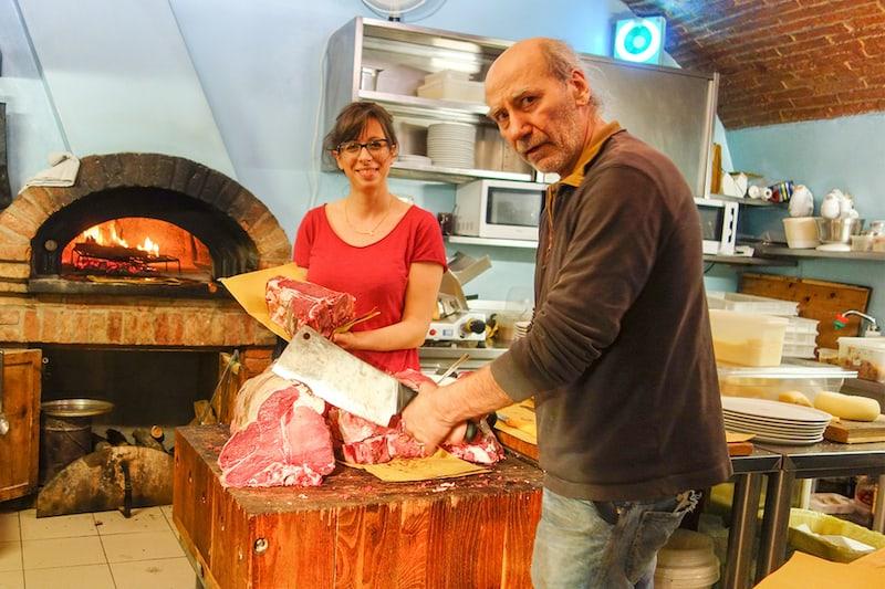 Butcher/chef at Italian restaurant. Rick Steves on Italian cuisine